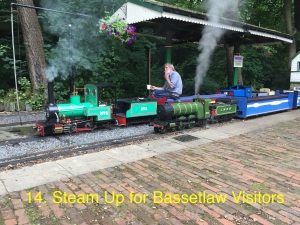 Steam-up for Bassetlaw Visitors.
