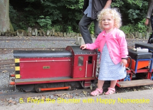Freya the Shunter with happy namesake.